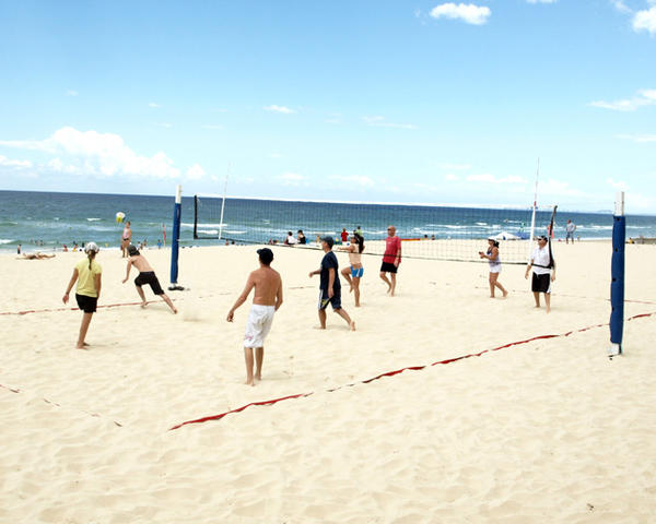 Beach Volleyball in Surfers Paradise