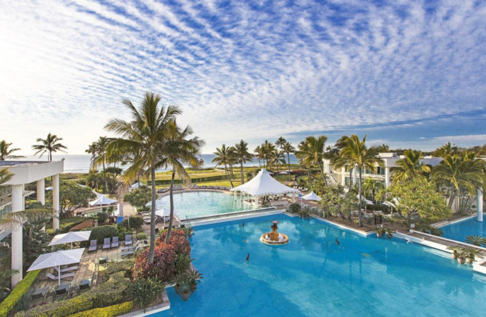 Sheraton Grand Mirage Pool Arial View