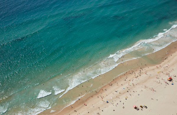 aerial of gold coast beach
