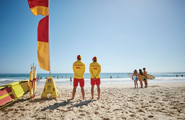 lifeguards at the beach