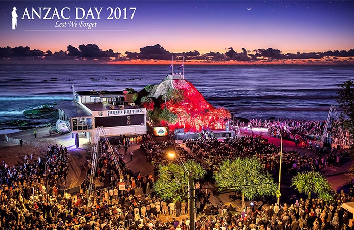 ANZAC Day celebrations at Currumbin