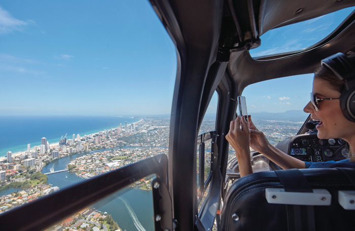 Views from a helicopter tour