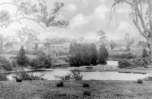 View of Nerang River and settlement near Weedon's Crossing,1908