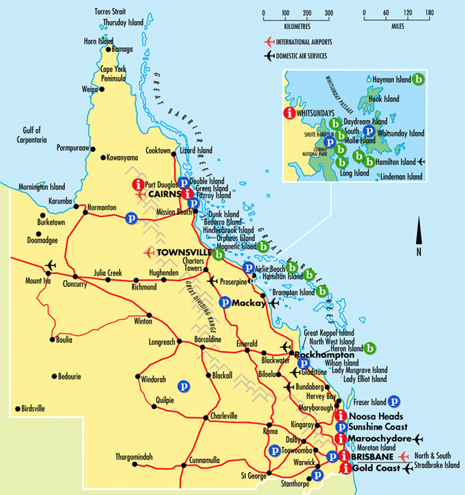 Interactive Queensland Map Gold Coast Australia