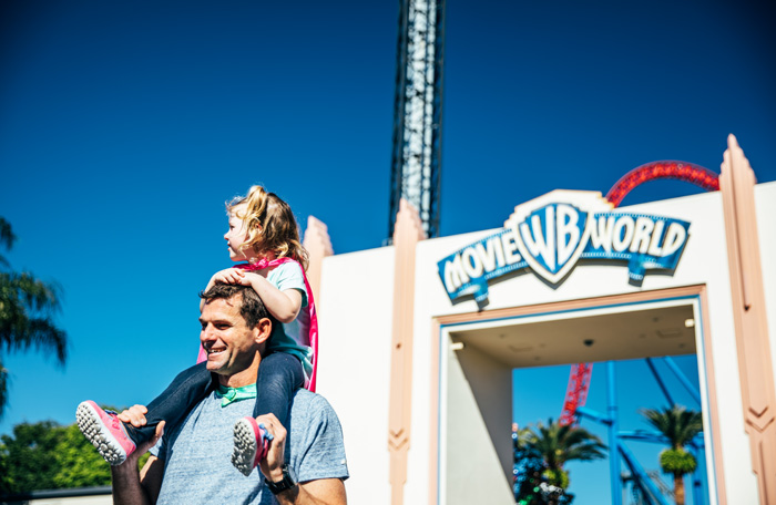 Father and daughter at Movie World