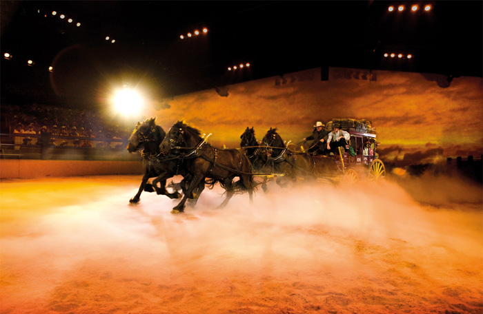Coach race at Outback Spectacular