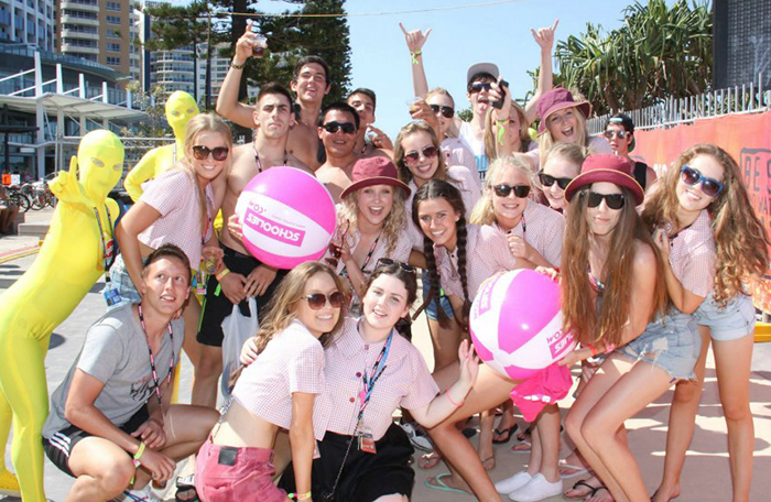 Scoolies celebrations in Surfers Paradise