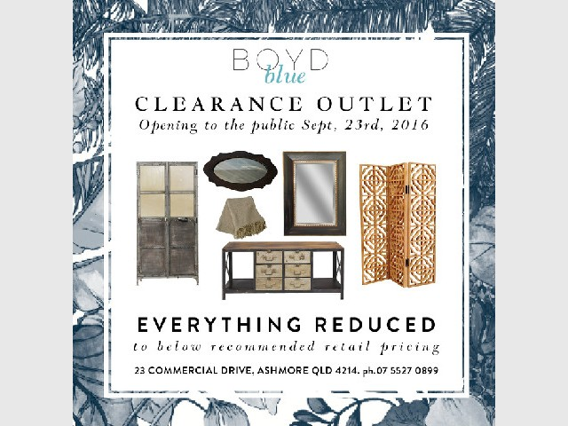 Boyd Blue Clearance Outlet Opening to the Public