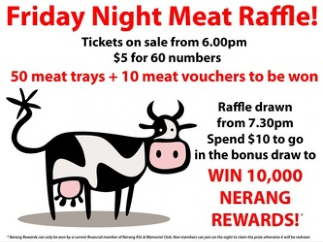 Friday Mega Meat Raffle