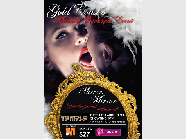 Gold Coast's Only Monthly Burlesque Event, Mirror Mirror