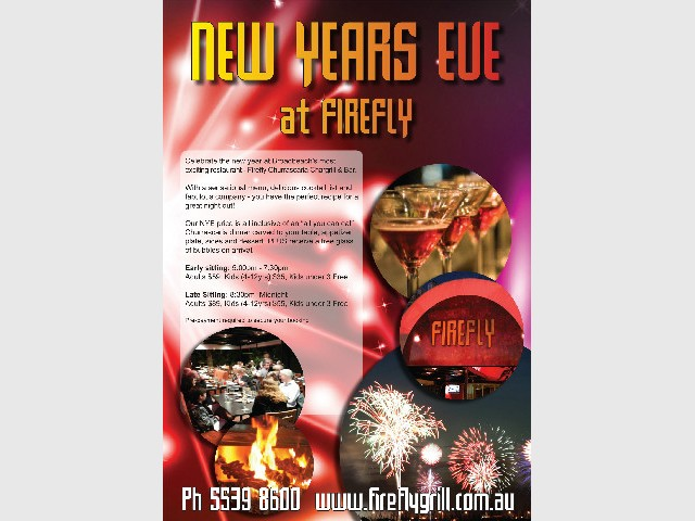 New Years Eve at Firefly Grill