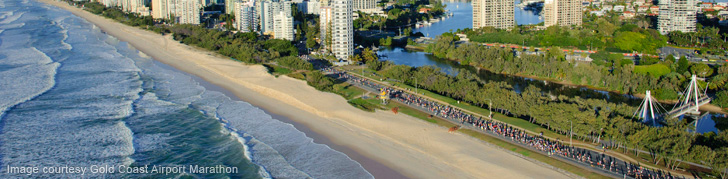 Aerial of Gold Coast Airport Marathon