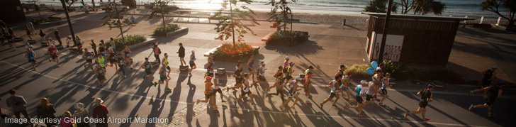 Marathon Runners at Sunrise Surfers Paradise
